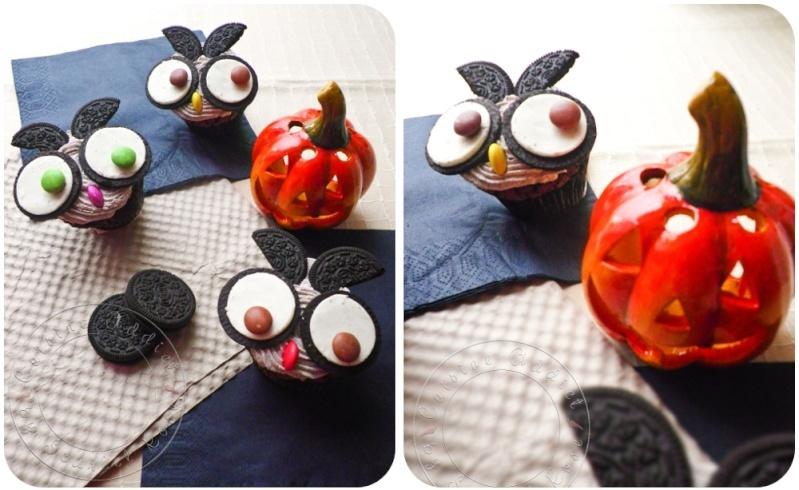 chouette Cupcakes aux Oreos