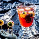 Raspberry Colada d'Halloween (Cocktail à la Framboise & aux … Yeux!!)