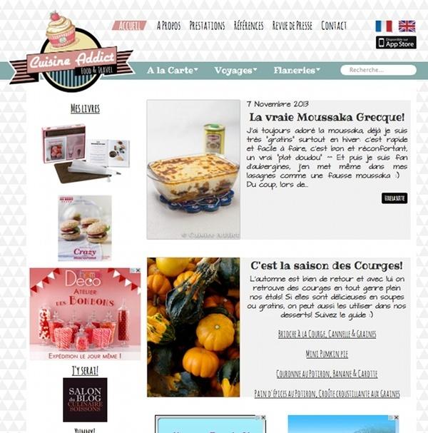 Nouveau look pour Cuisine Addict {Ma migration Overblog Kiwi}