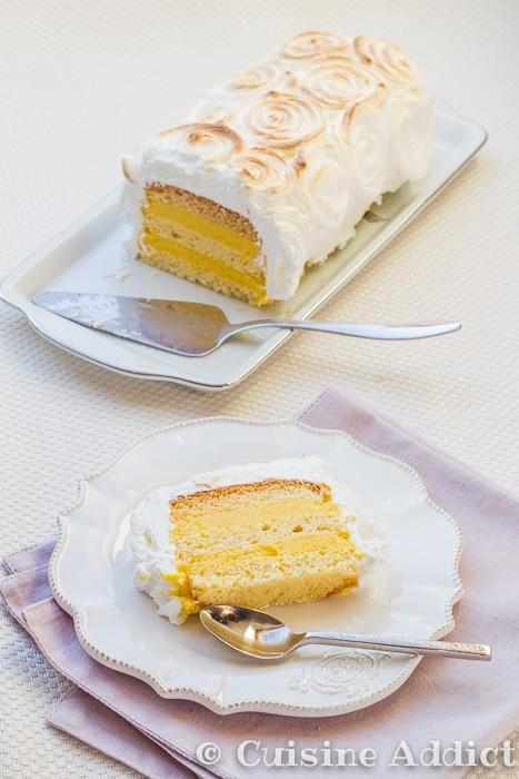 Layer cake Exotique Meringué au Quatre-Quart Ker Cadelac