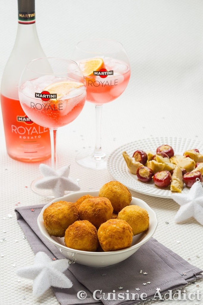 arancini la truffe pour un ap ritif italien de f te avec martini royale cuisine addict. Black Bedroom Furniture Sets. Home Design Ideas
