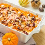 Gratin de Patates Douces aux Cranberry</br>pour Thanksgiving
