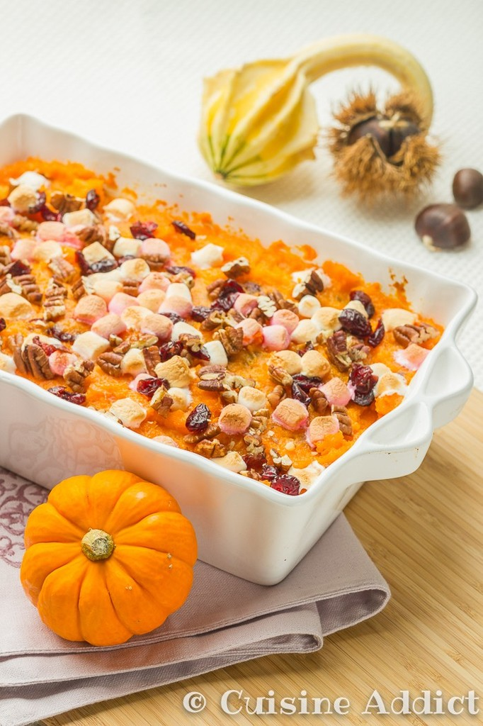 gratin de patates douces aux cranberry pour thanksgiving cuisine addict. Black Bedroom Furniture Sets. Home Design Ideas