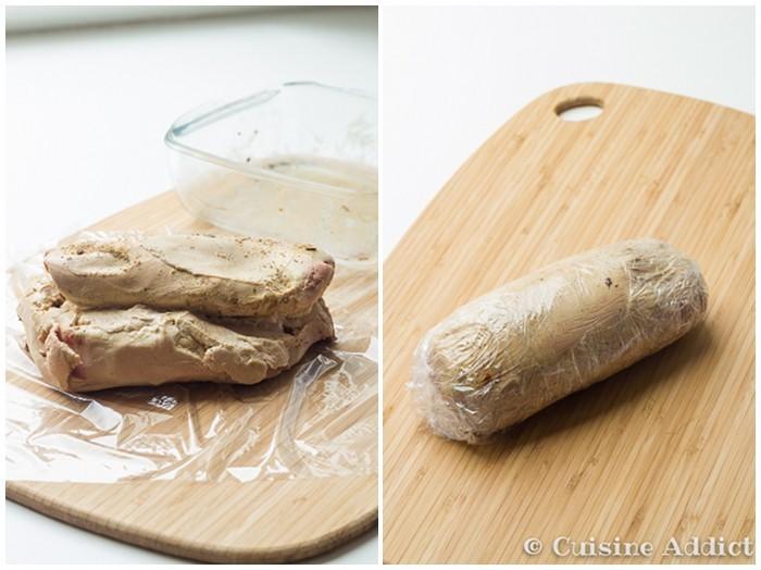 Foie Gras japonisant Saké & Gingembre, mi-cuit à la Vapeur