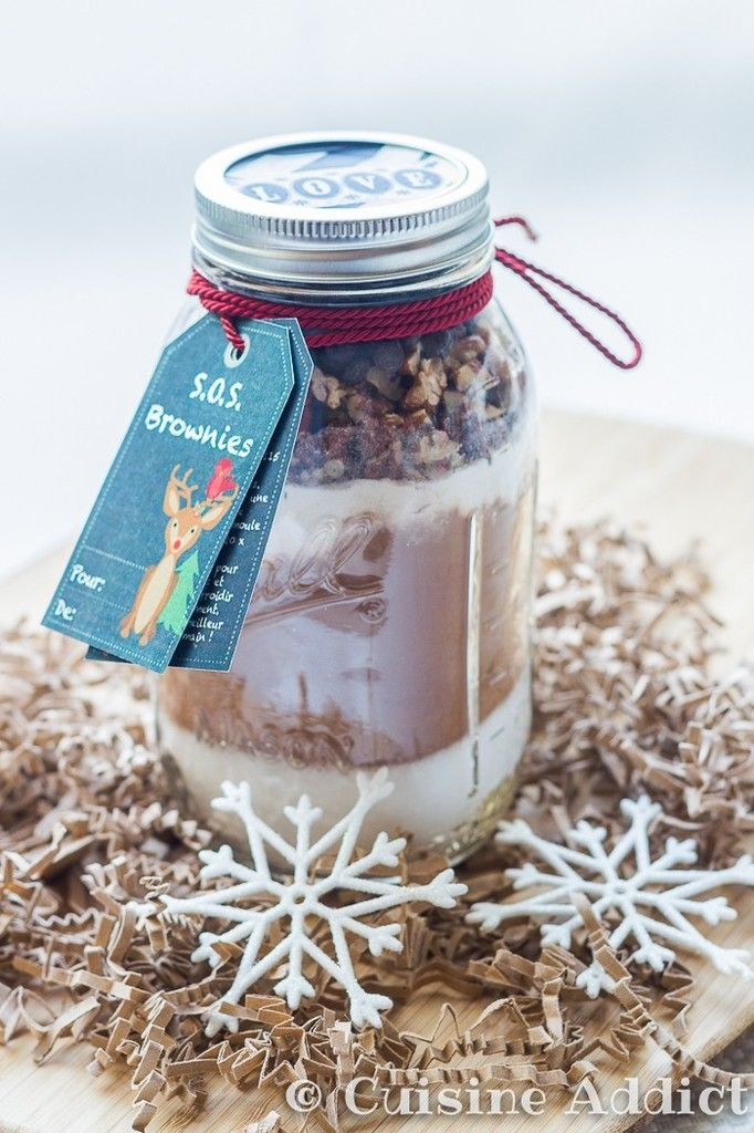 S.O.S. Brownie – Brownies dans un bocal (Cadeau Gourmand)