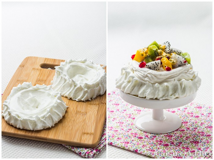 Meringue Combava, Chantilly Coco et Fruits Exotiques
