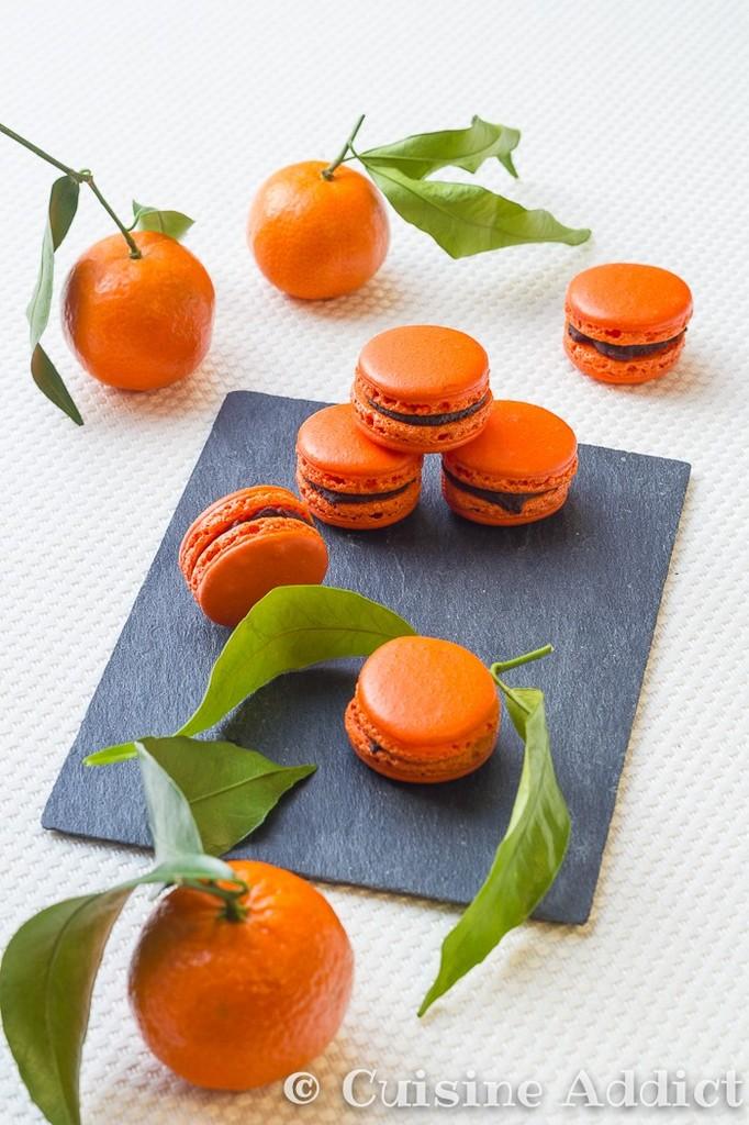 Macarons Clémentine Corse et Chocolat