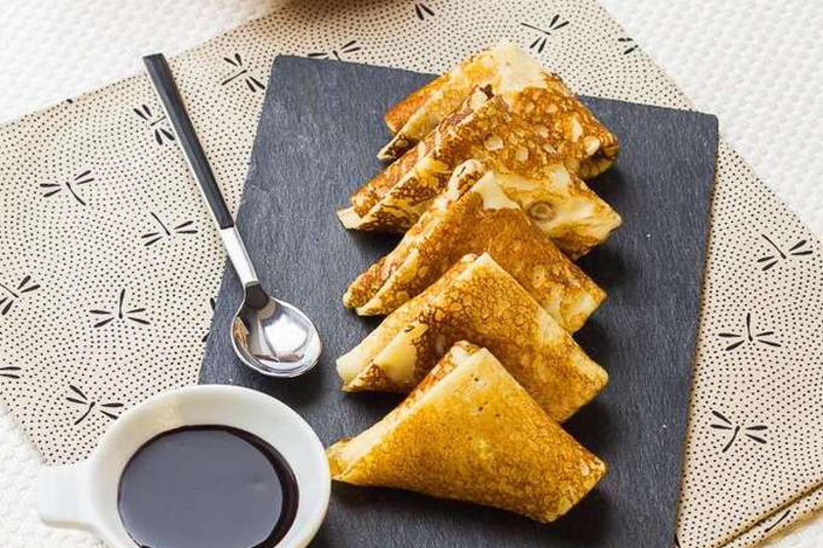 Samoussas de Crêpes aux Agrumes &#038;</br>Sauce Chocolat