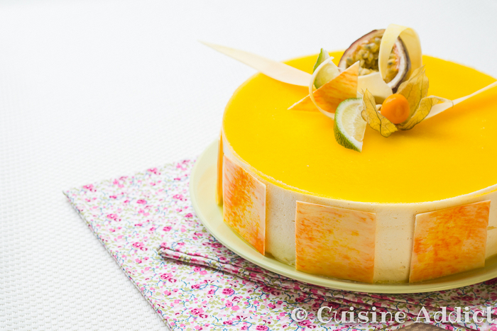 Cheesecake Combava/Coco, Mousse Mangue & Crémeux Passion