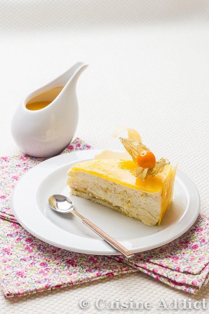 Cheesecake combava, coco et mangue - Recette de cheesecake