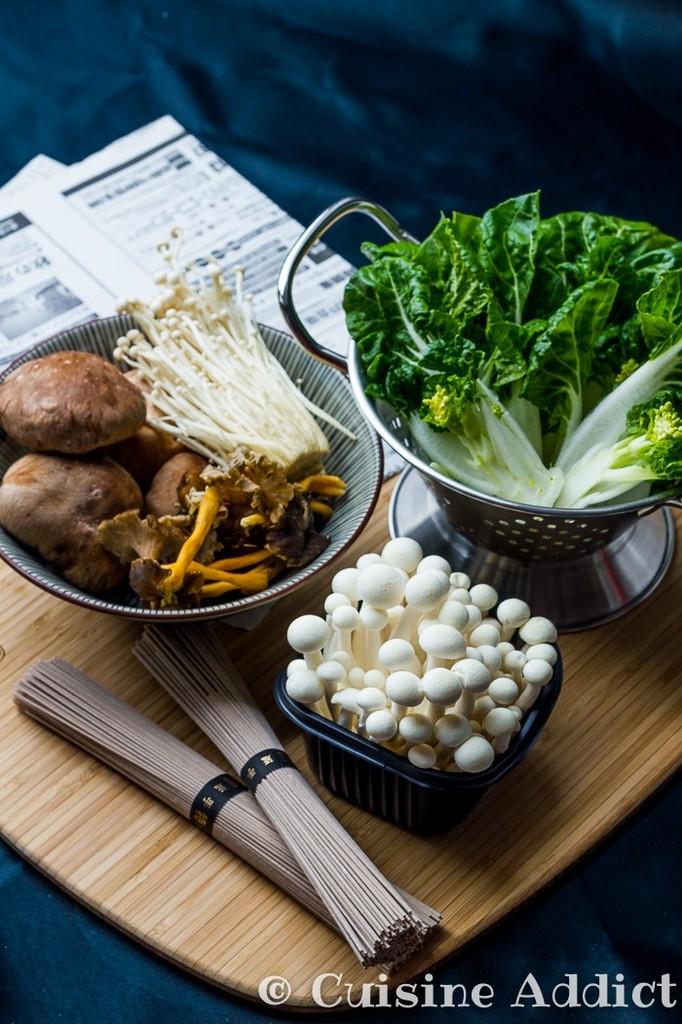 Po l e japonaise pak cho champignons soba cuisine addict blog de cuisine fun et color - Cuisson pak choi ...