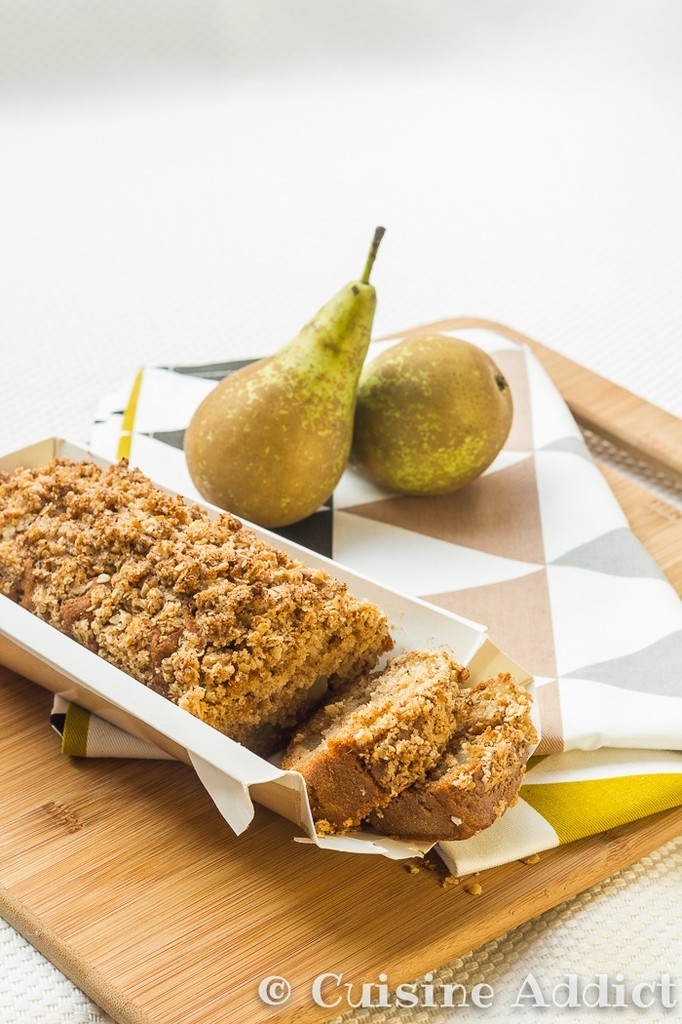 Cake moelleux aux Poires & Epices, Streusel croustillant