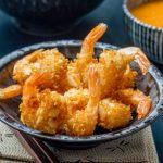 Crevettes croustillantes à la Noix de coco & aux Amandes ♦ Sauce Aigre-douce à l'Abricot