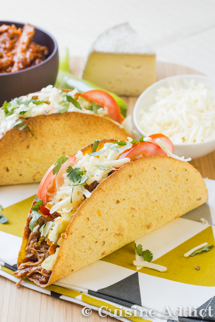 Pulled Pork & Cheese tacos