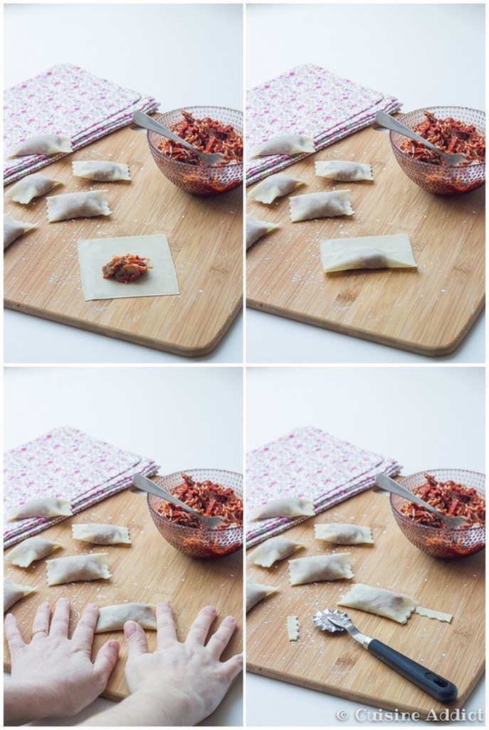 Pizza Wontons - Mi-Ravioli frit, Mi-Pizza
