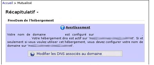 Changement des DNS