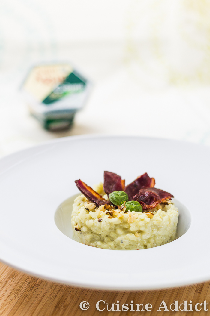 Risotto magret croustillant cr me saint agur noix - Reduction cuisine addict ...
