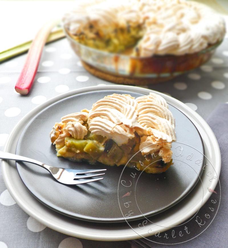 Tarte la rhubarbe meringu e alsacienne cuisine addict for Cuisine addict