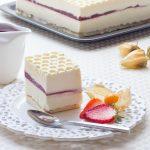 Crémeux Yaourt, Chocolat blanc, Sabayon Mascarpone & Framboise gélifiée