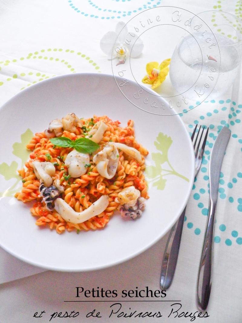 Salade de p tes aux seiches grill es pesto de poivron for Cuisine addict