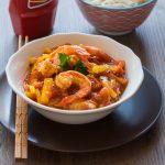 Crevettes sauce aigre douce au Ketchup et à la Mangue