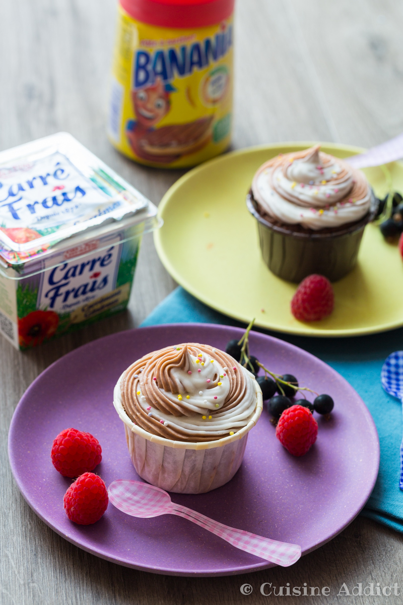 Cupcakes marbrés Banania Carre frais