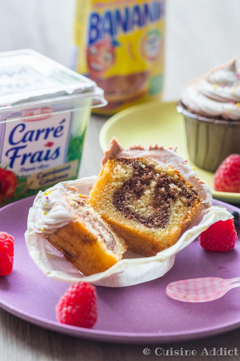 Cupcakes marbrés Banania Carre frais-3712