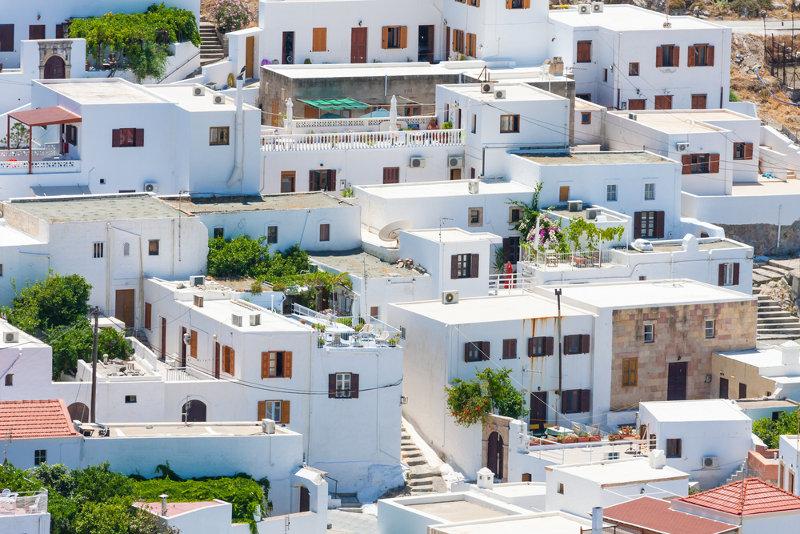 Panorama of Lindos - via Shutterstock