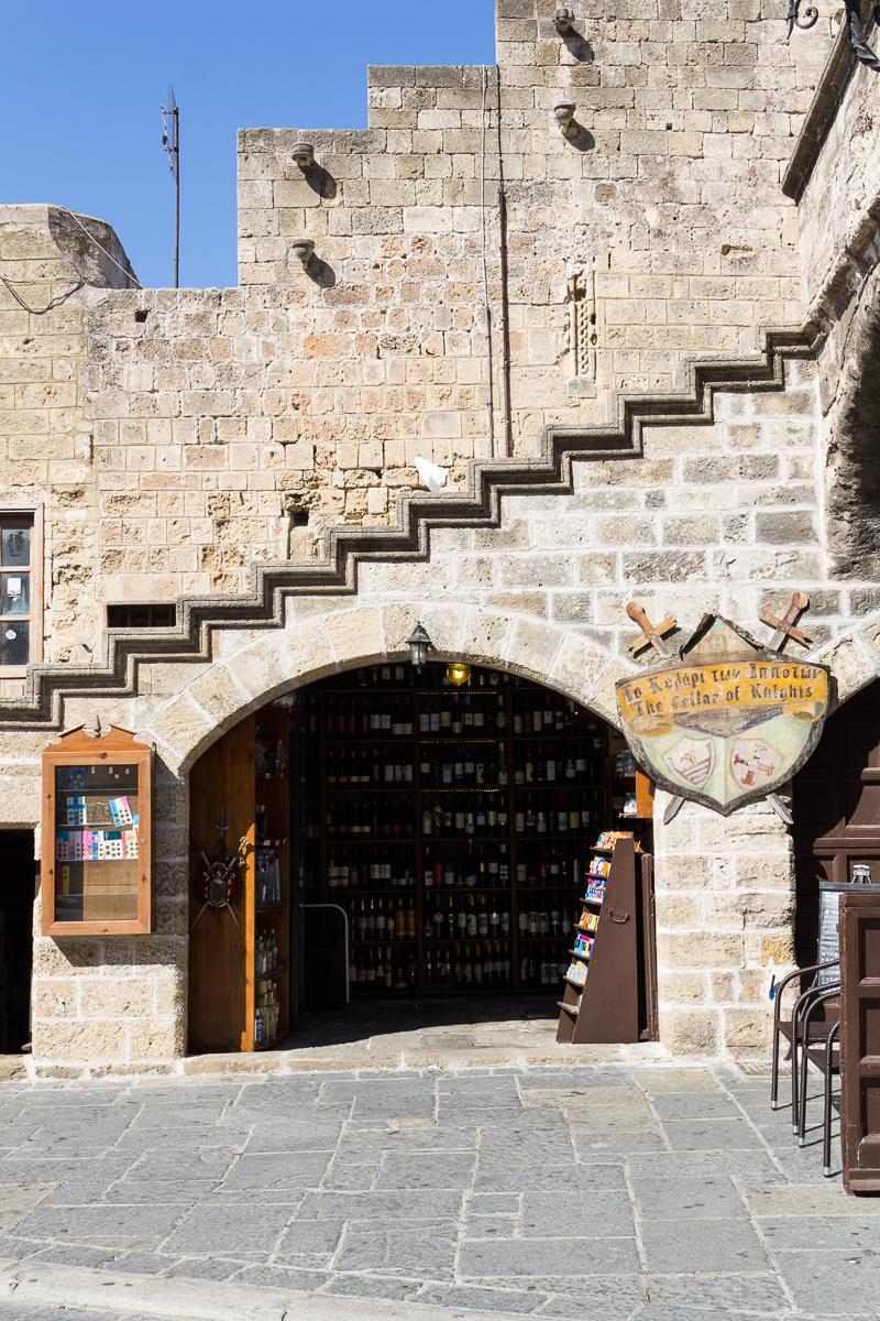 Rhodes - Ville fortifiée - Square Hypocrate
