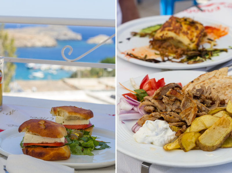 Rhodes - Lindos - restaurant Mythos