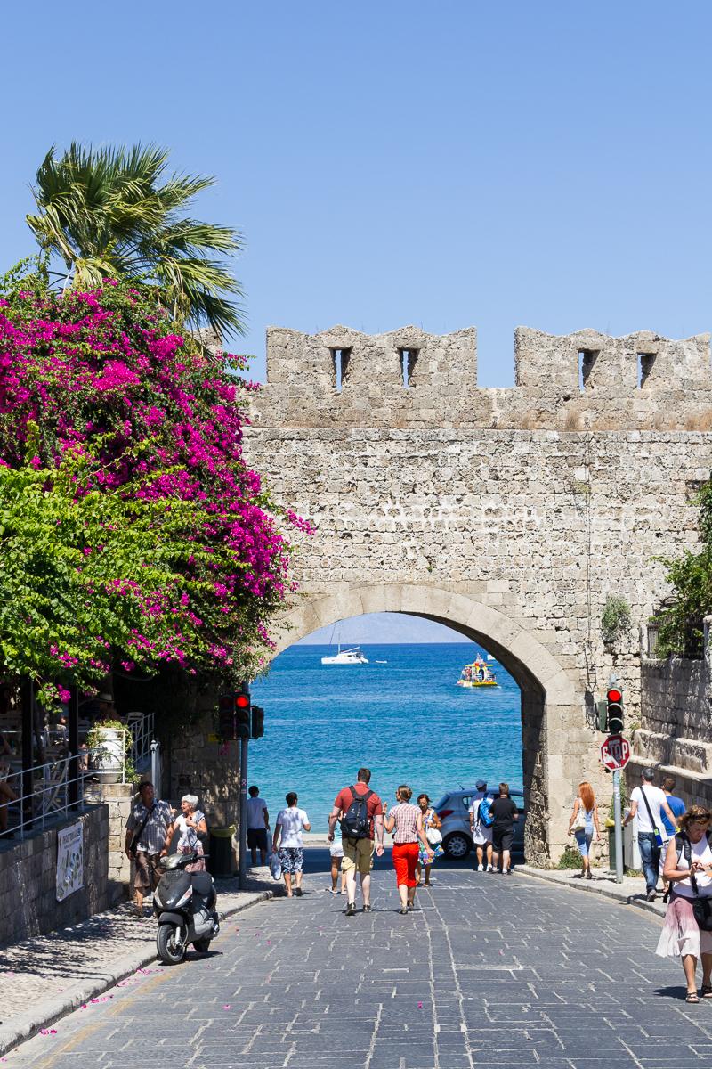 Rhodes ville - vue sur le port