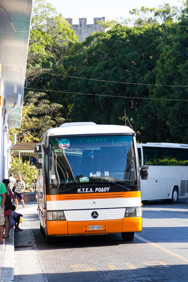 Rhodes bus sur l'île