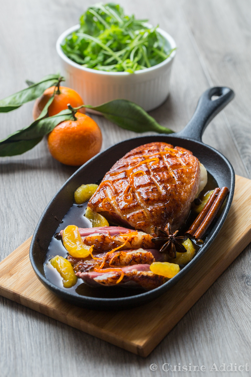 peking duck breast with clementine & spices - cuisine addict