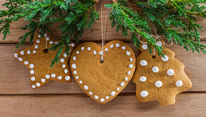 Christmas homemade gingerbread via Shutterstock
