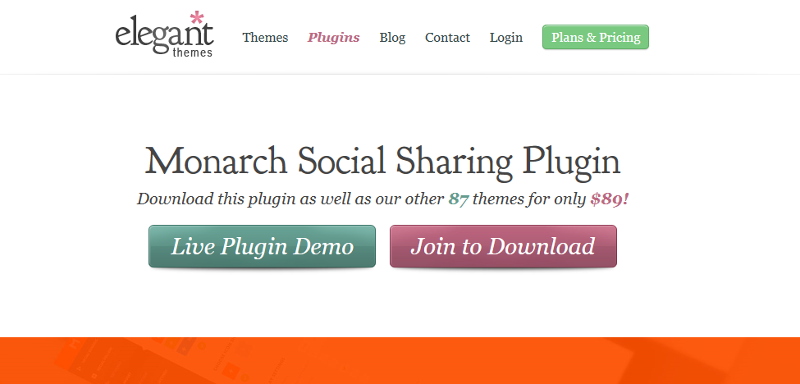 Wordpress Monarch plugin