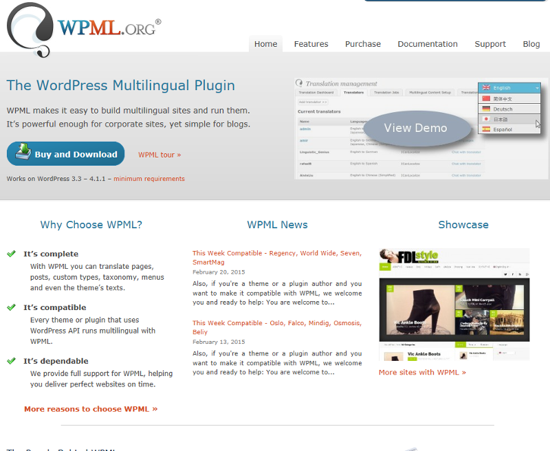 Wordpress WPML plugin