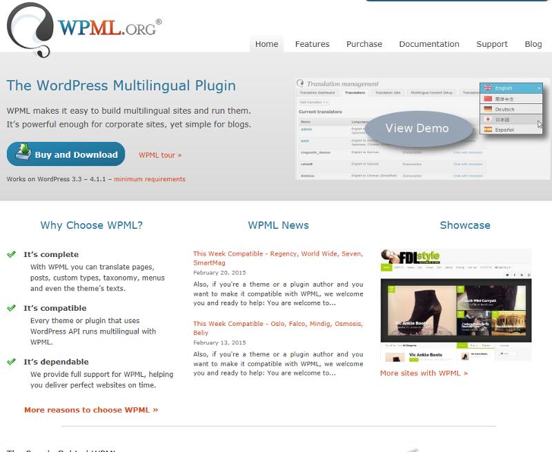 Wordpress WPML plugin