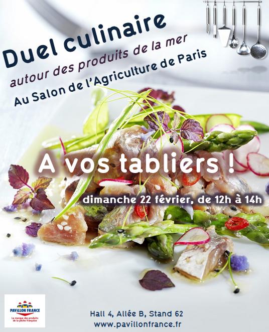 Et si vous veniez cuisiner avec moi et Pavillon de France au Salon de l'Agriculture?