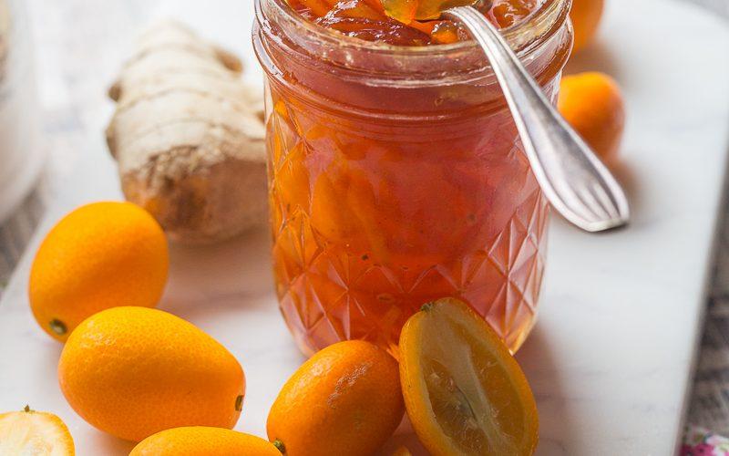 Confiture de kumquats au gingembre , Recette de confiture