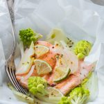 Trout Papillote with Fennel and Romanesco Cauliflower