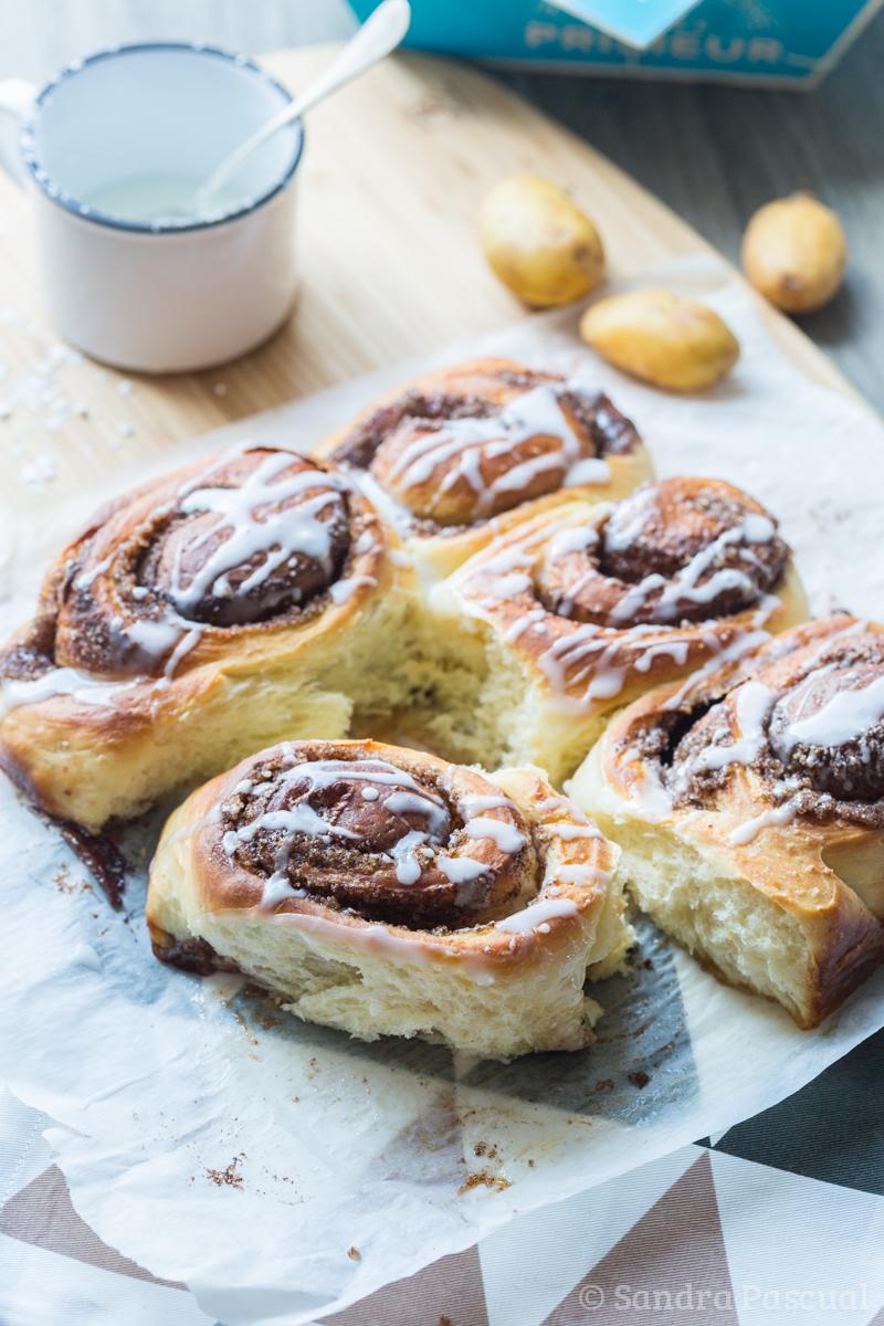 Cinnamon rolls aux Pommes de Terre de l'île de Ré