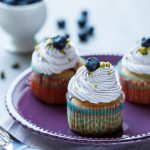 Coconut & Blueberry Cupcakes