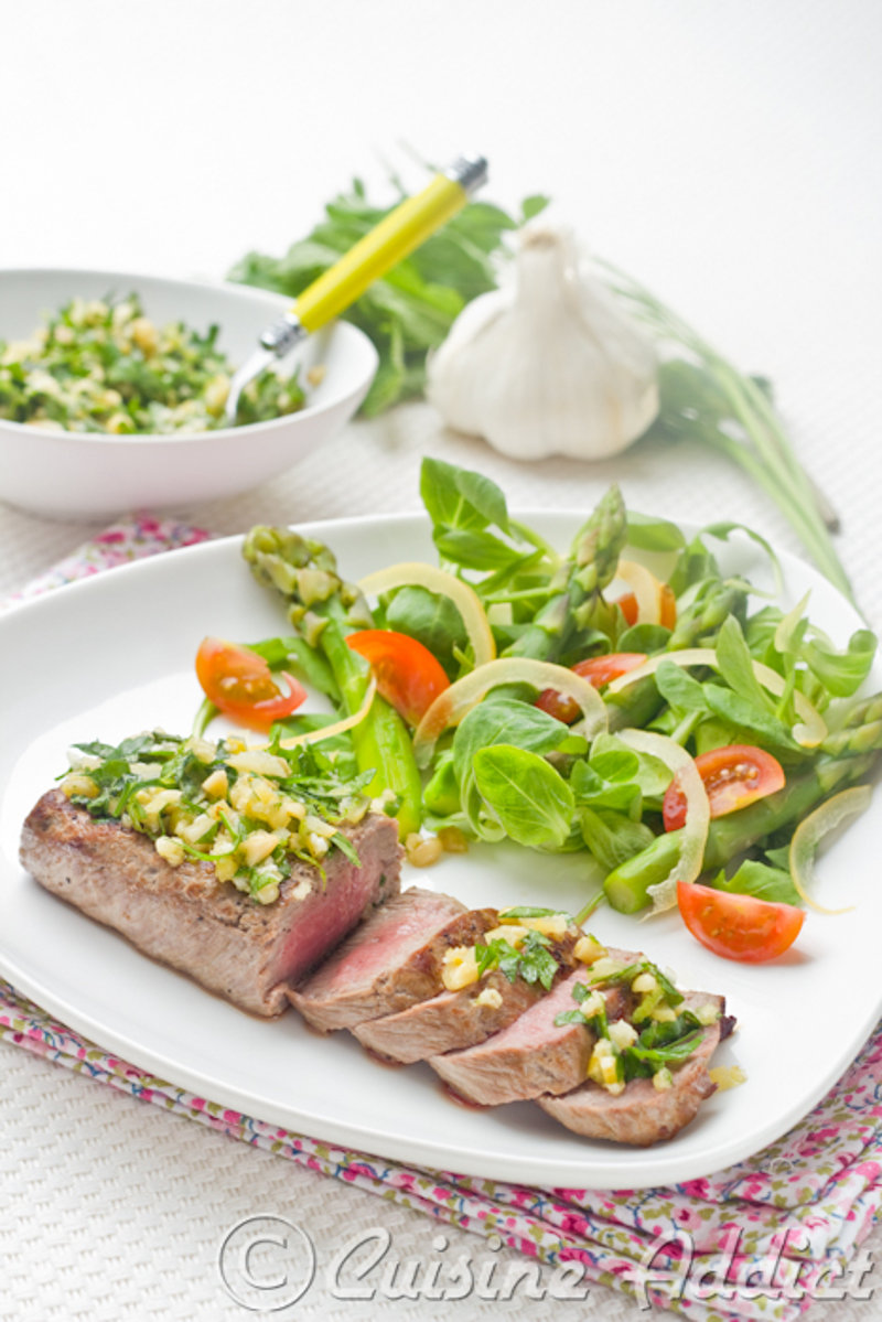 Lamb Steak, Herbs & Lemon Gremolata