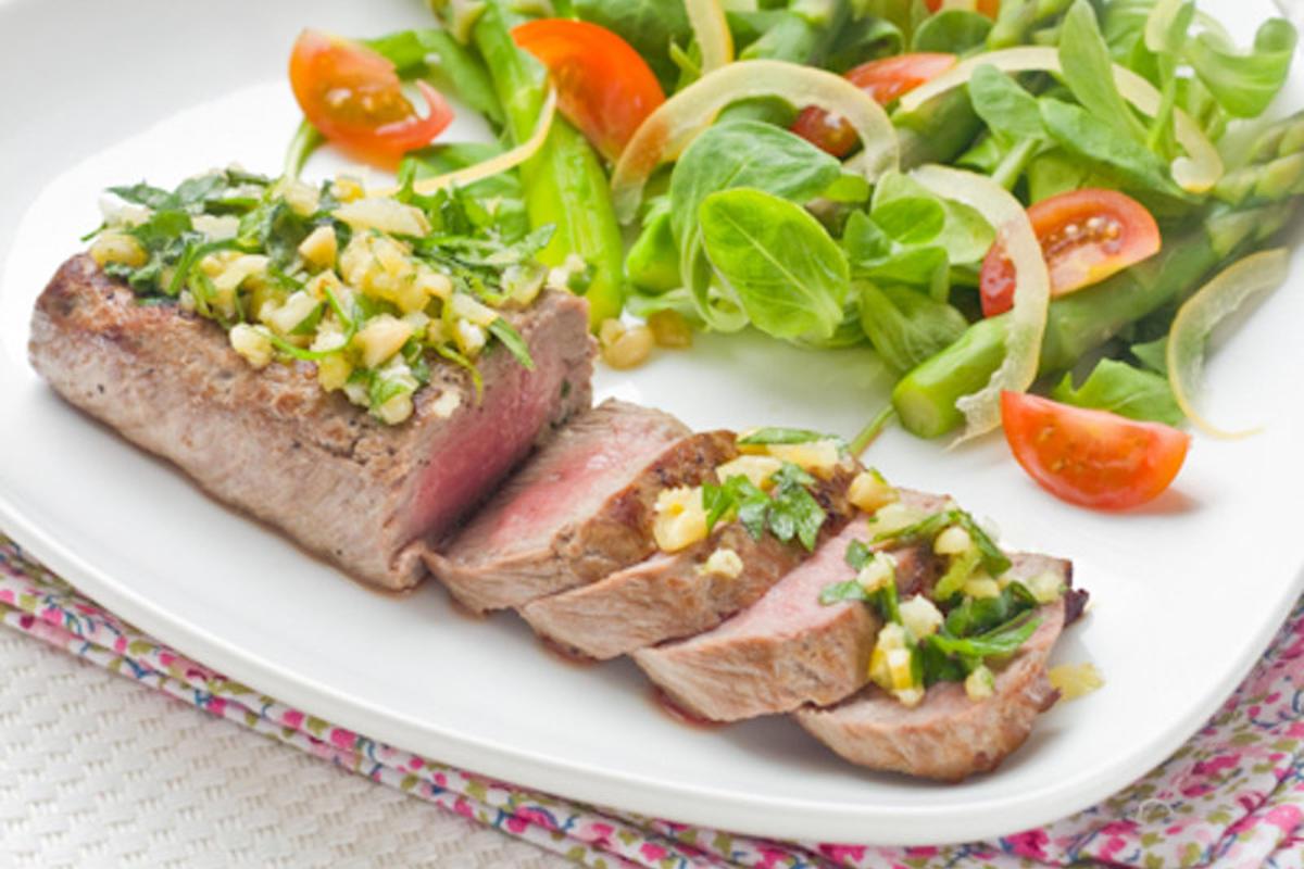 Steak d'Agneau, Gremolata aux Herbes & Citron confit