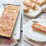 Rhubarb, Rose & Pistachios Pie