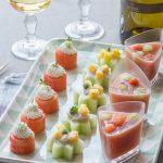 Apéritif fraîcheur pour un vin de Gascogne (Ceviche, Pastèque et Gaspacho)
