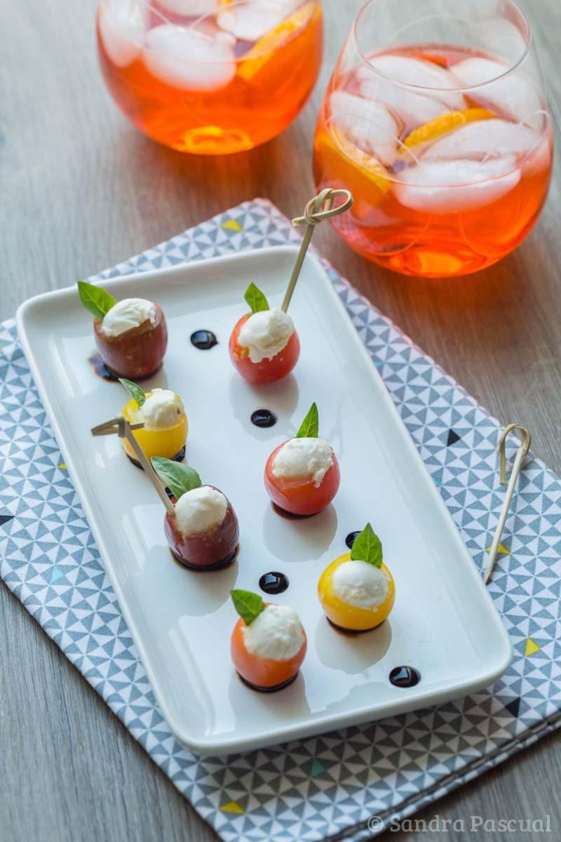 Italian appetizer mozzarella tomatoes spritz cuisine for Cuisine addict