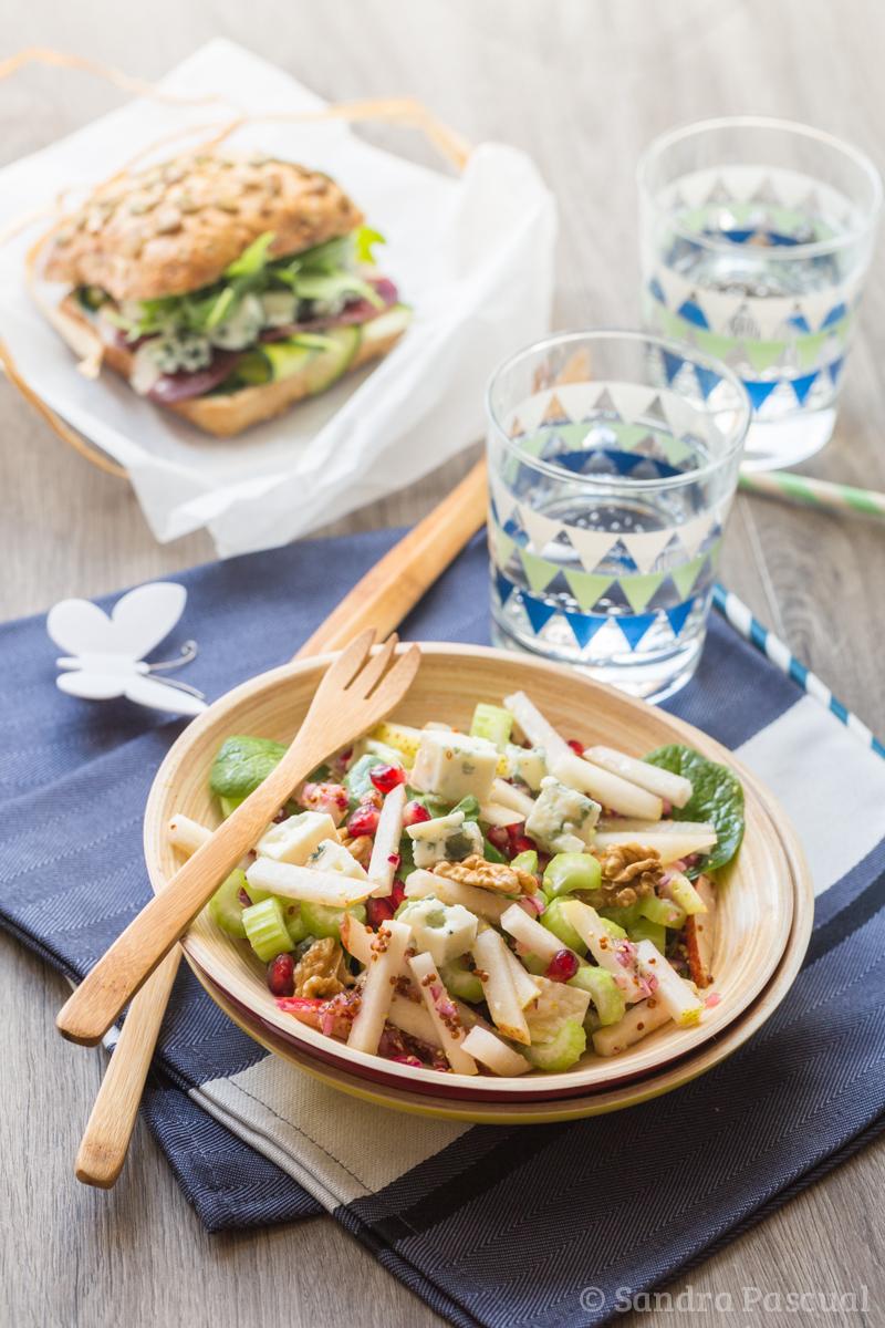 salade au roquefort en bocal sandwich roquefort magret sauce miel moutarde pique nique chic. Black Bedroom Furniture Sets. Home Design Ideas