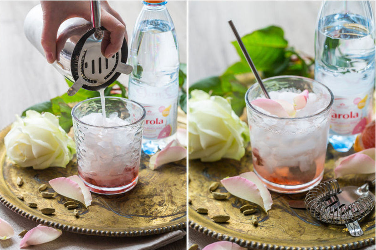 Spicy Rose Cocktail