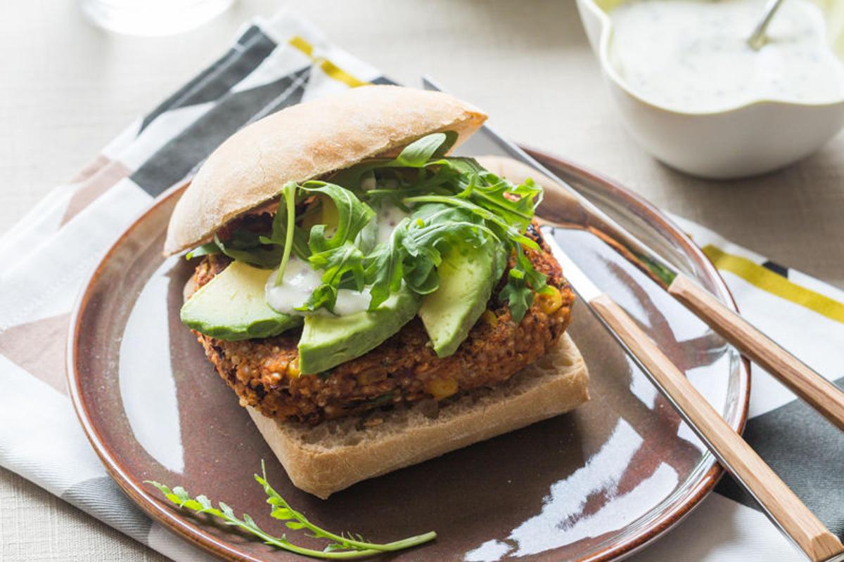 Veggie Burger au Quinoa, Haricots rouges</br>&#038; Maïs